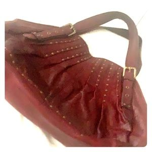 Kooba studded leather red leather handbag